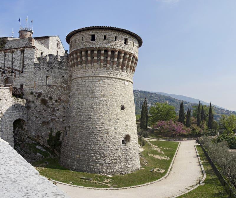 Warowny kompleks Brescia kasztel zdjęcie stock