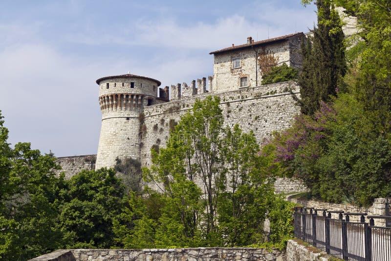 Warowny kompleks Brescia kasztel zdjęcie royalty free