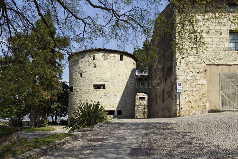 Warowny kompleks Brescia kasztel fotografia royalty free