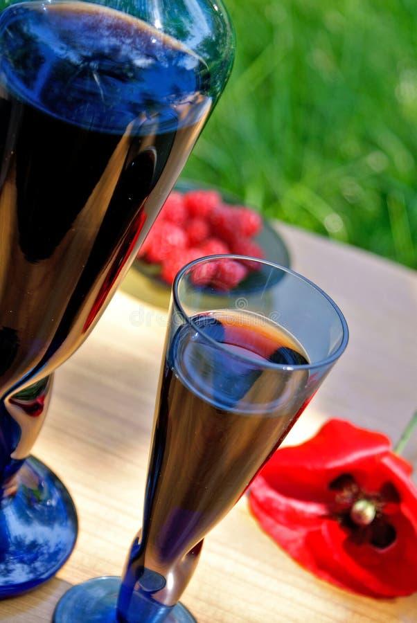 warowny malinowy wino obrazy stock
