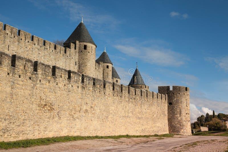Warowny miasto Carcassonne zdjęcia royalty free