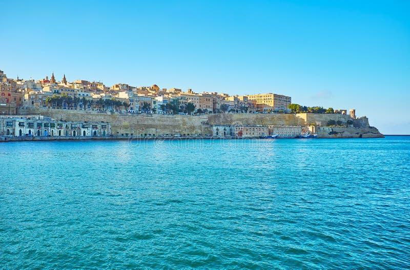 Warowny Valletta, Malta zdjęcia royalty free