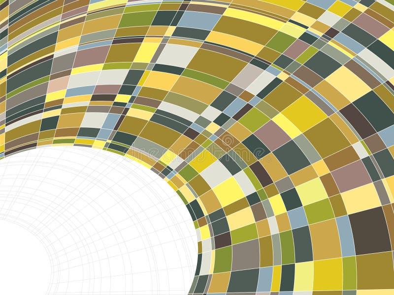warp квадратов мозаики матрицы иллюстрация штока