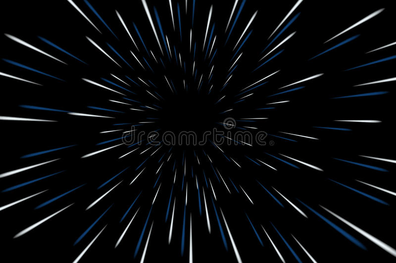 Warp stars galaxy. Vector illustration. Zoom in light speed space royalty free illustration