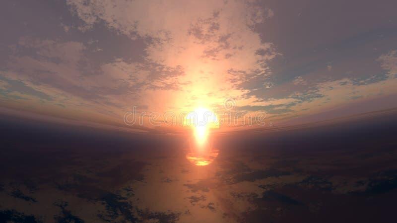 Download Warped Sunset stock image. Image of seascape, energy, morning - 2299991