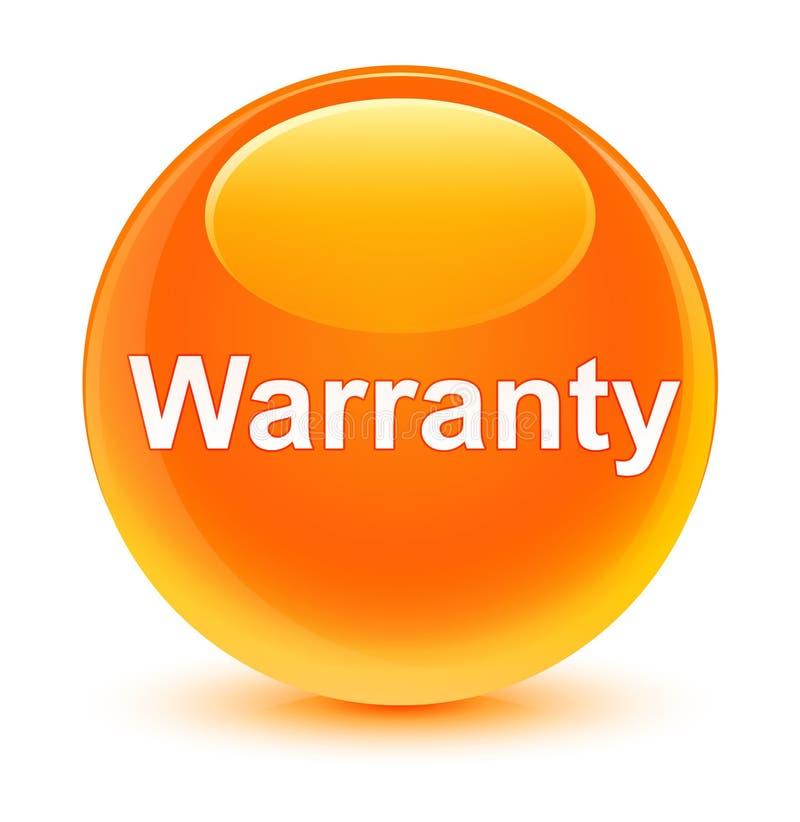 Warranty glassy orange round button royalty free illustration