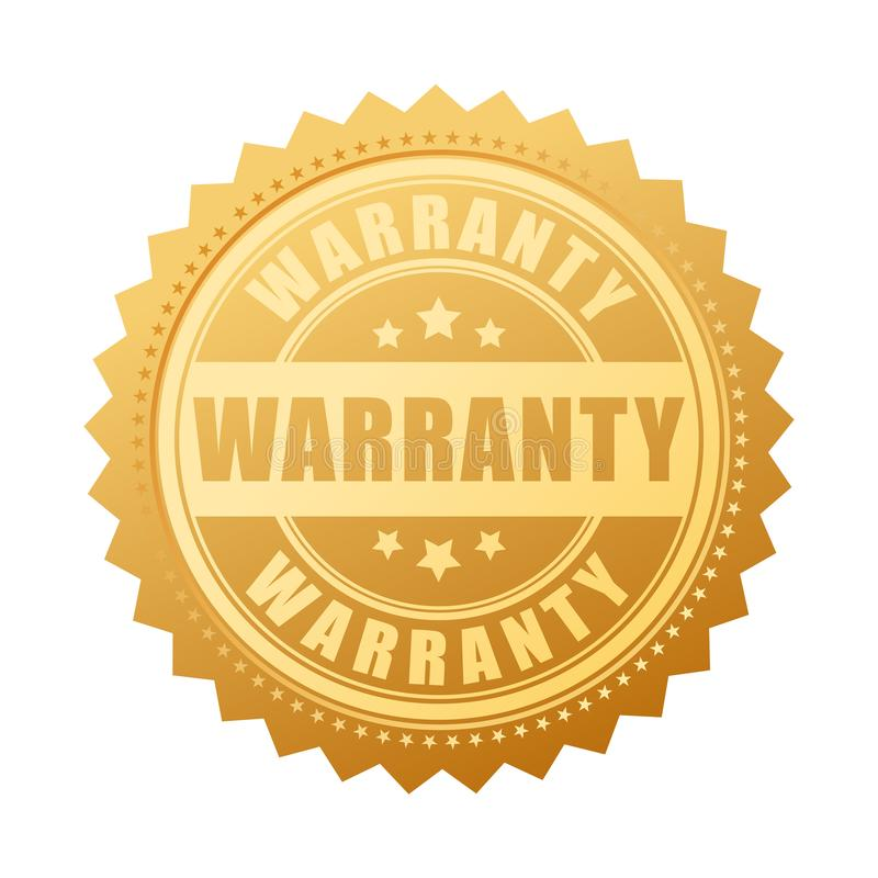 Warranty gold vector seal vector illustration