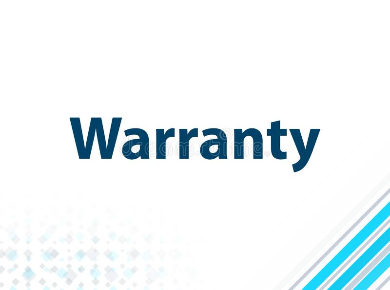 Warranty Modern Flat Design Blue Abstract Background. Warranty Isolated on Modern Flat Design Blue Abstract Background royalty free illustration