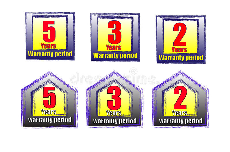 Download Warranty labels stock vector. Image of special, guarantee - 37007257