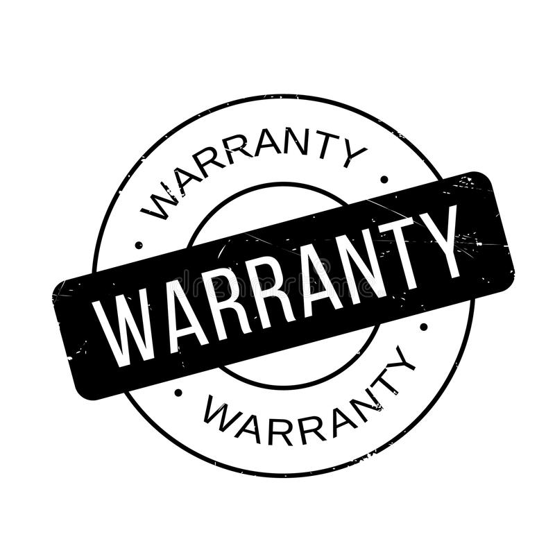 Warranty rubber stamp. Grunge design with dust scratches. Effects can be easily removed for a clean, crisp look. Color is easily changed vector illustration