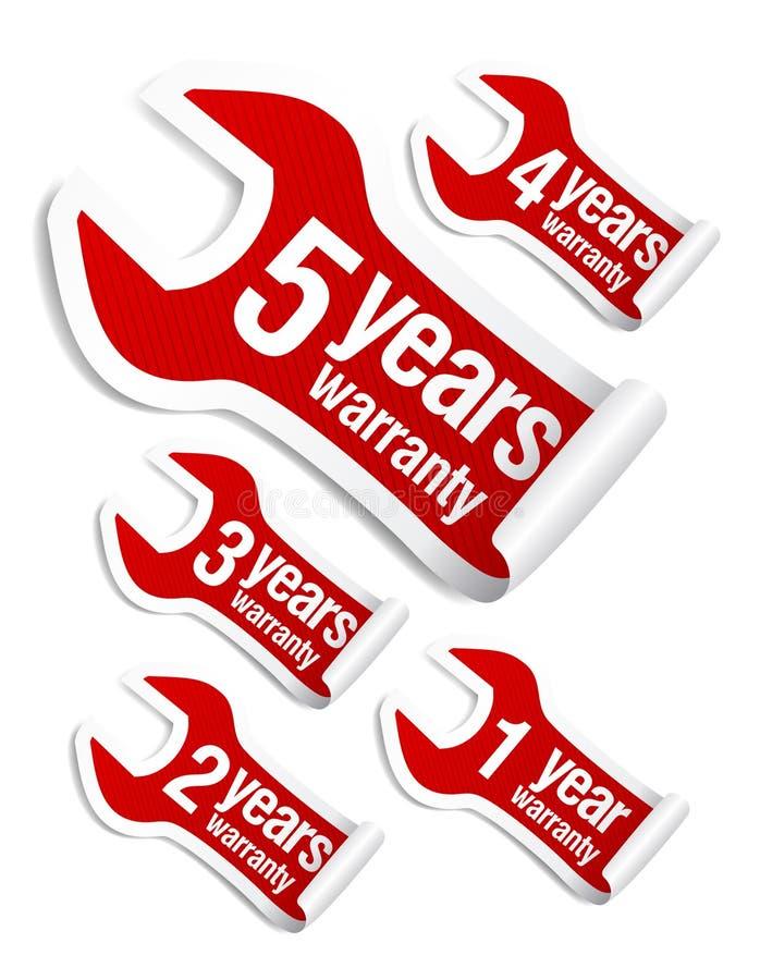 Warranty Stickers Set Royalty Free Stock Image
