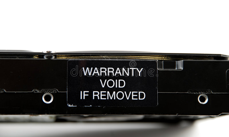 Warranty void stock photography