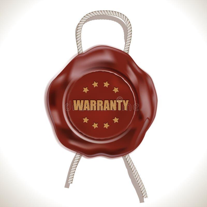 Download Warranty Wax Seal stock vector. Image of cord, symbol - 27503888