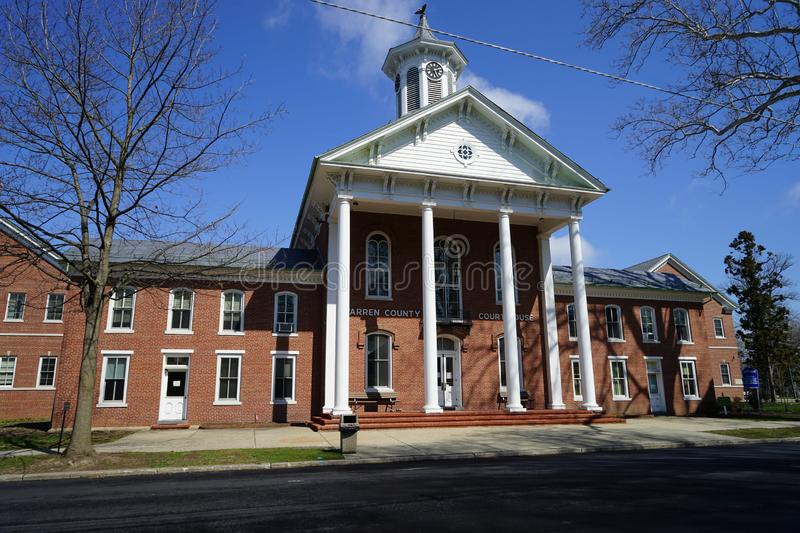 Warren County Courthouse in Belividere, New Jersey stock foto's