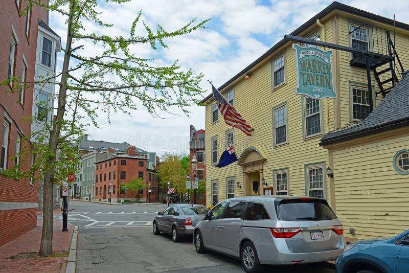 Warren Tavern dans Charlestown, Boston, mA, Etats-Unis image stock