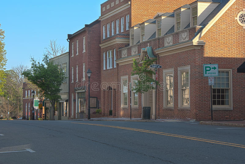 Warrenton Virgínia, cidade velha foto de stock royalty free