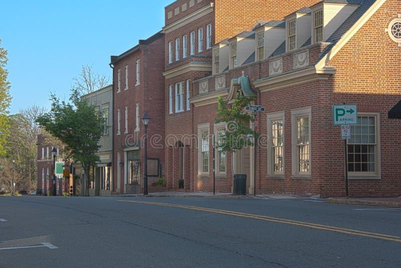 Warrenton Virginia, alte Stadt lizenzfreies stockfoto
