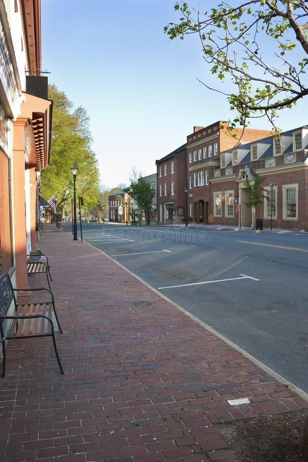 Warrenton Virginia, ciudad vieja foto de archivo