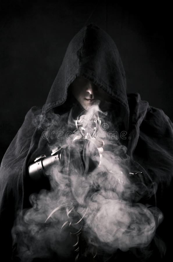 Warrior in abstract smoke royalty free stock image