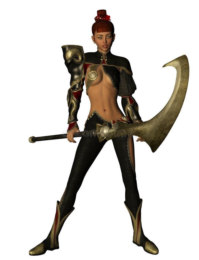 Warrior with battle axe royalty free stock photos