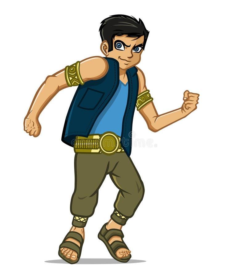 Download Warrior boy stock vector. Image of fighter, buckle, teenager - 32331398