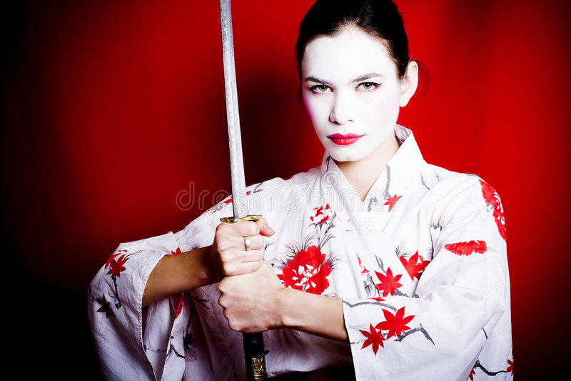 Download Warrior Geisha stock image. Image of holding, menacing - 6937591