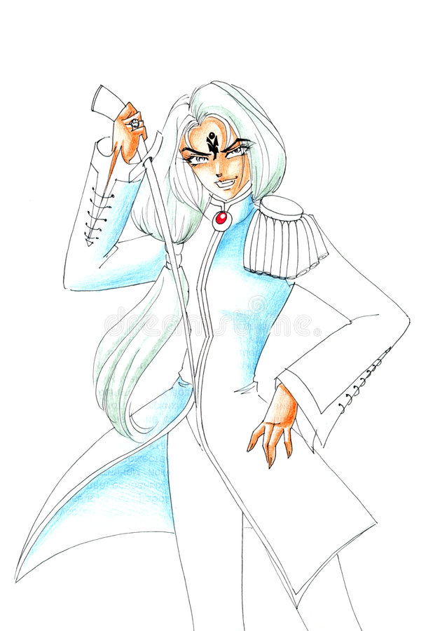 Download Warrior Girl stock illustration. Image of white, cartoon - 8288435