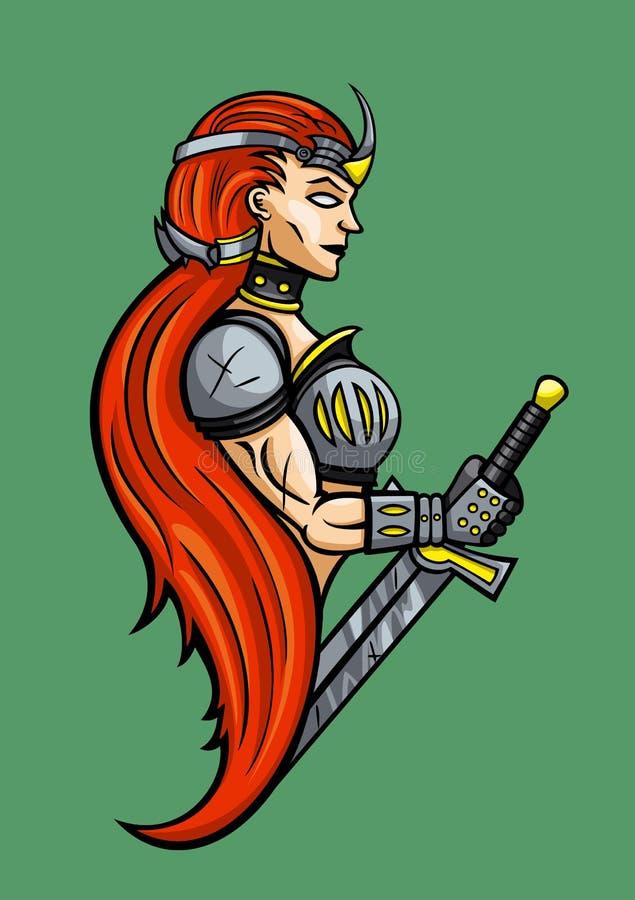 Download Warrior Girl Emblem Royalty Free Stock Photo - Image: 32383855