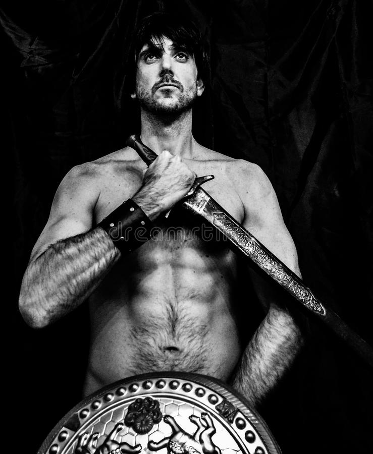 Download Male Warrior stock image. Image of nude roman exotic - 46027195  sc 1 st  Dreamstime.com & Male Warrior stock image. Image of nude roman exotic - 46027195