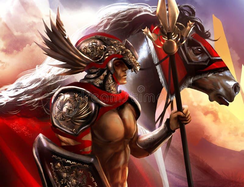 Warrior vector illustration
