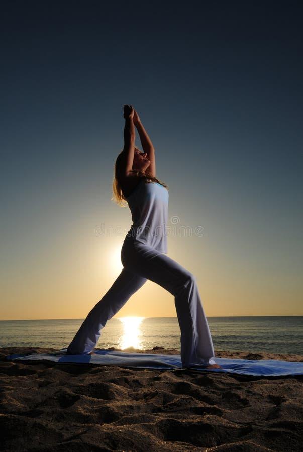 Download Warrior I (Virabhadrasana I) Yoga Pose Stock Image - Image: 25313801