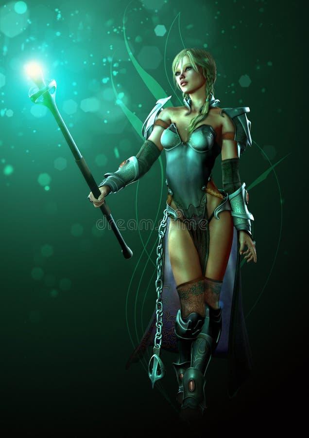 Warrior of Light vector illustration