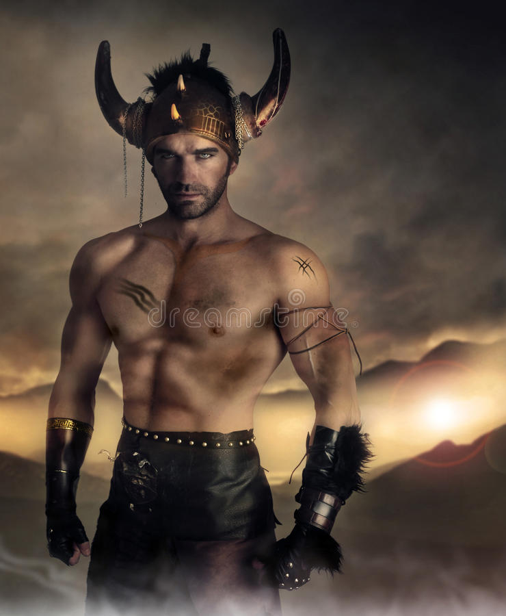 Download Warrior man stock photo. Image of ancient, muscular, male - 27667658