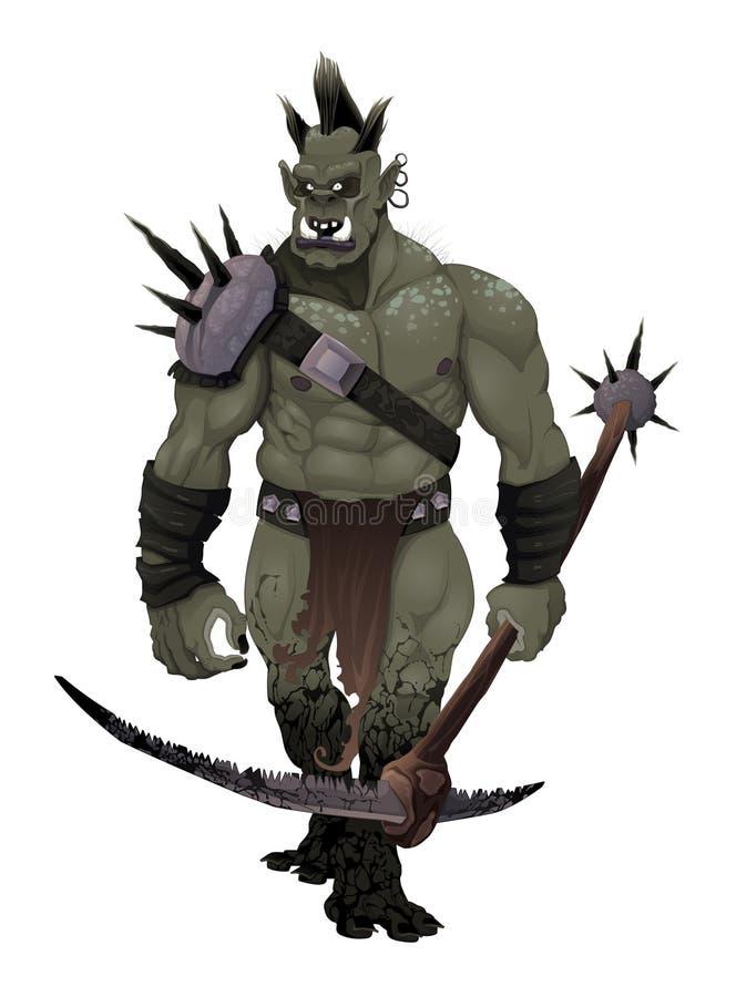Warrior ogre. vector illustration