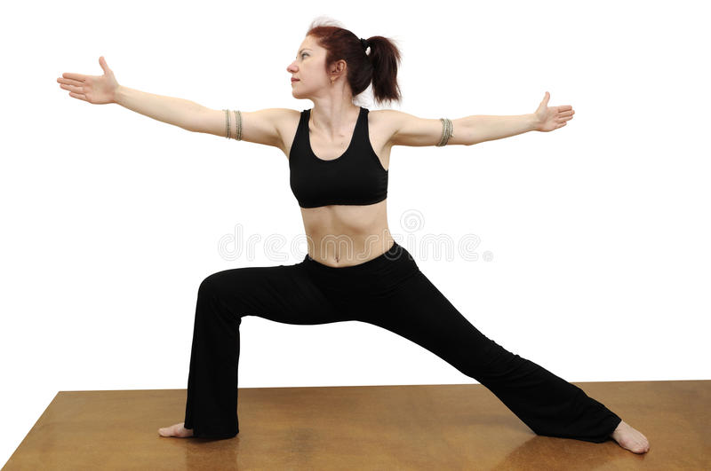 Download Warrior pose stock image. Image of position, carpet, posture - 23445145