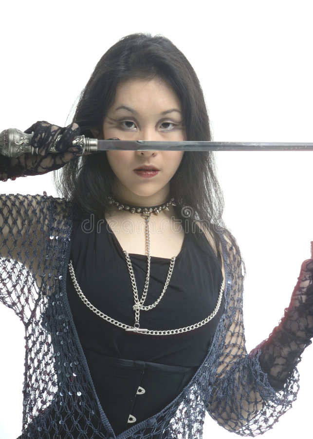 Warrior princess royalty free stock image