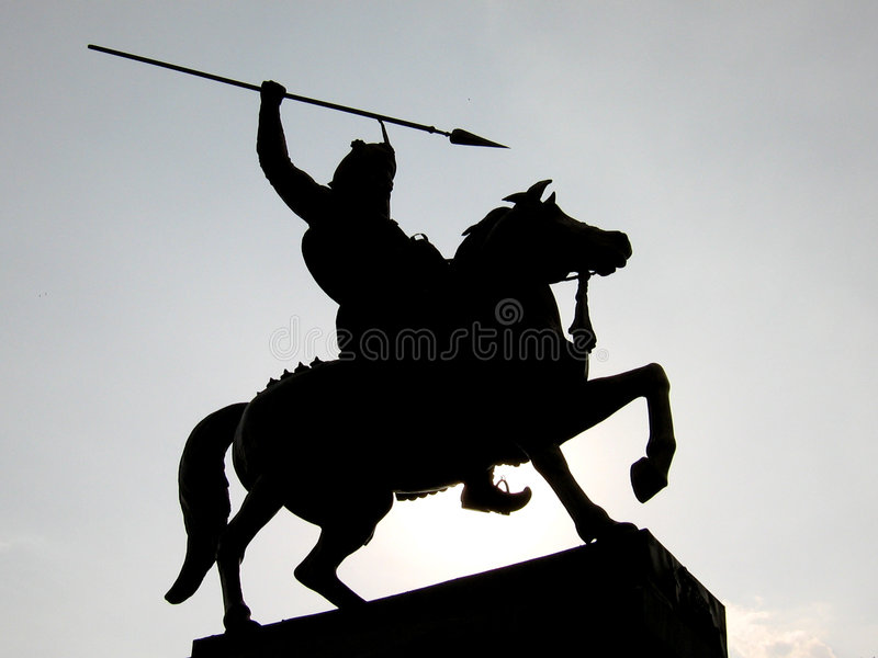 Download Warrior Silhouette stock image. Image of india, horses - 2067541