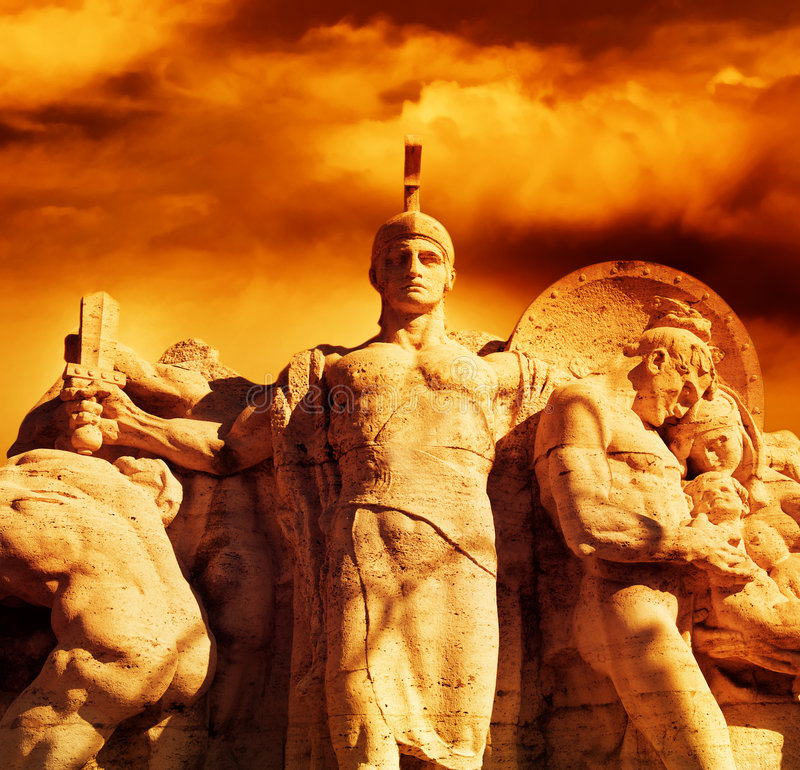 Download Warrior With A Sword Statue Stock Image - Image: 8222387