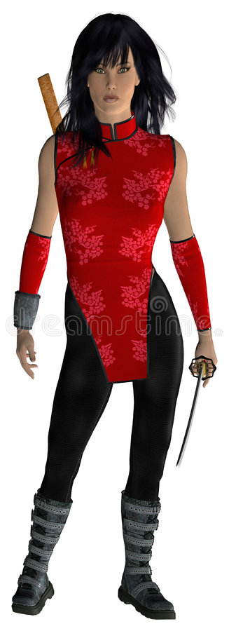 Download Warrior Woman stock illustration. Illustration of female - 2732868