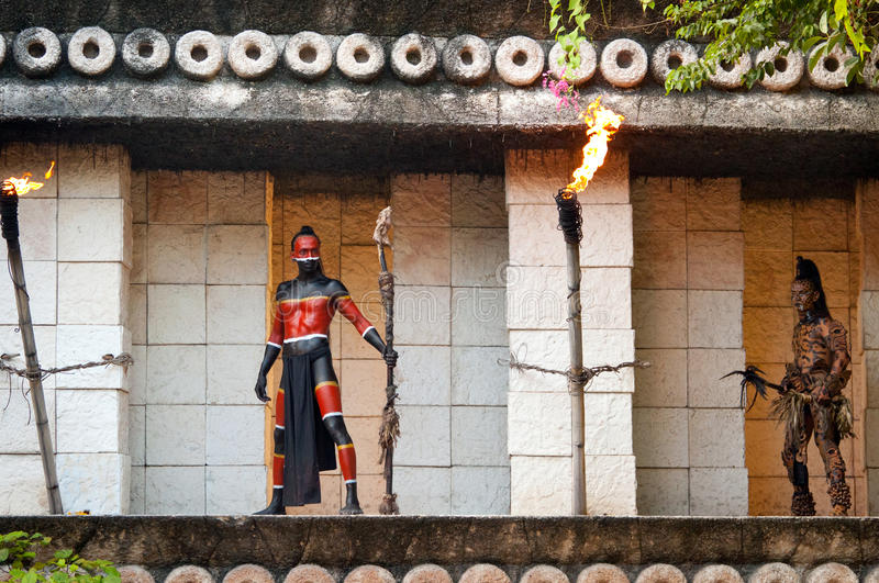 Download Warriors at Mayan temple editorial image. Image of mexican - 20628570