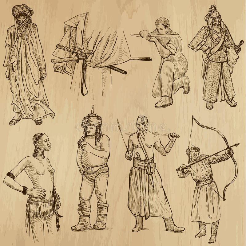Warriors no.6 royalty free illustration