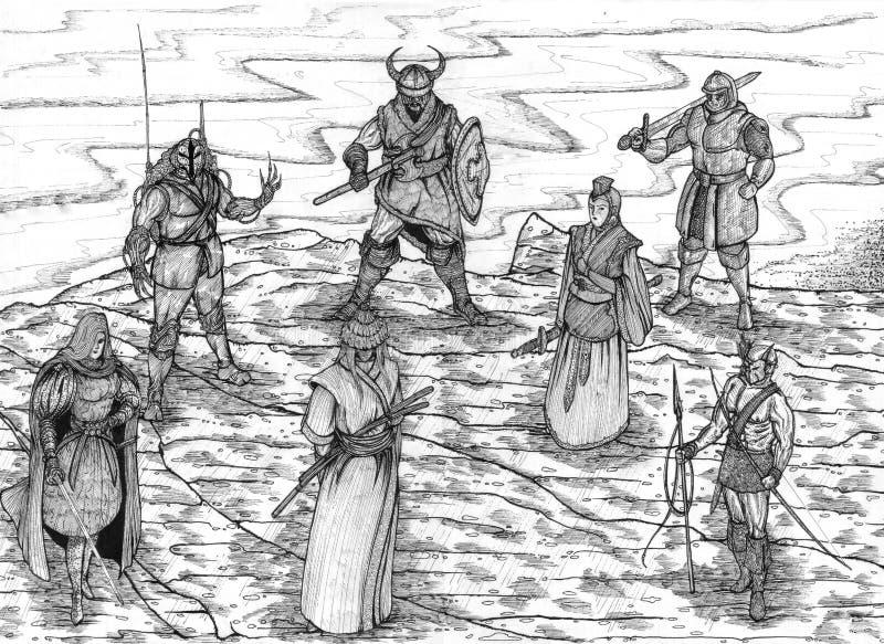 Download Warriors Of The World stock illustration. Illustration of full - 13910611