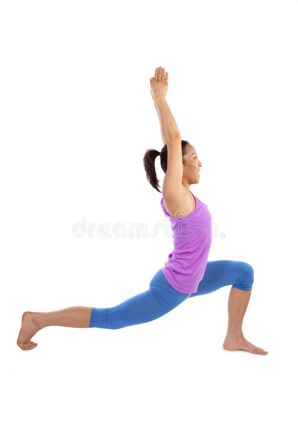 Download Warrrior one yoga stretch stock photo. Image of fitness - 12943232