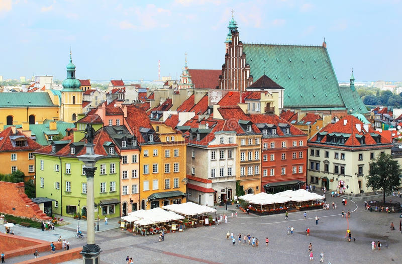 Warsaw arkivbild