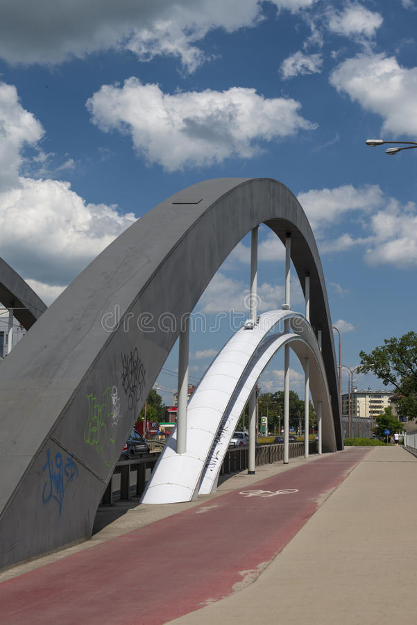 Warsaw bridges in Wroclaw stock photography