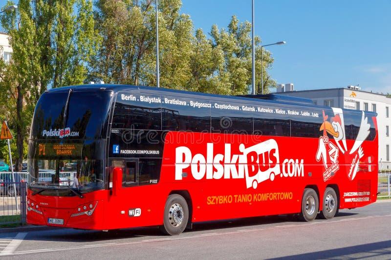 warsaw Buss Polen royaltyfria bilder