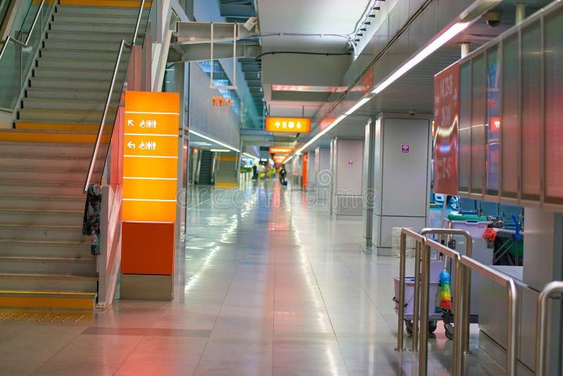 Warsaw Chopin Airport. WARSAW, POLAND - CIRCA NOVEMBER, 2017: inside Warsaw Chopin Airport stock photos