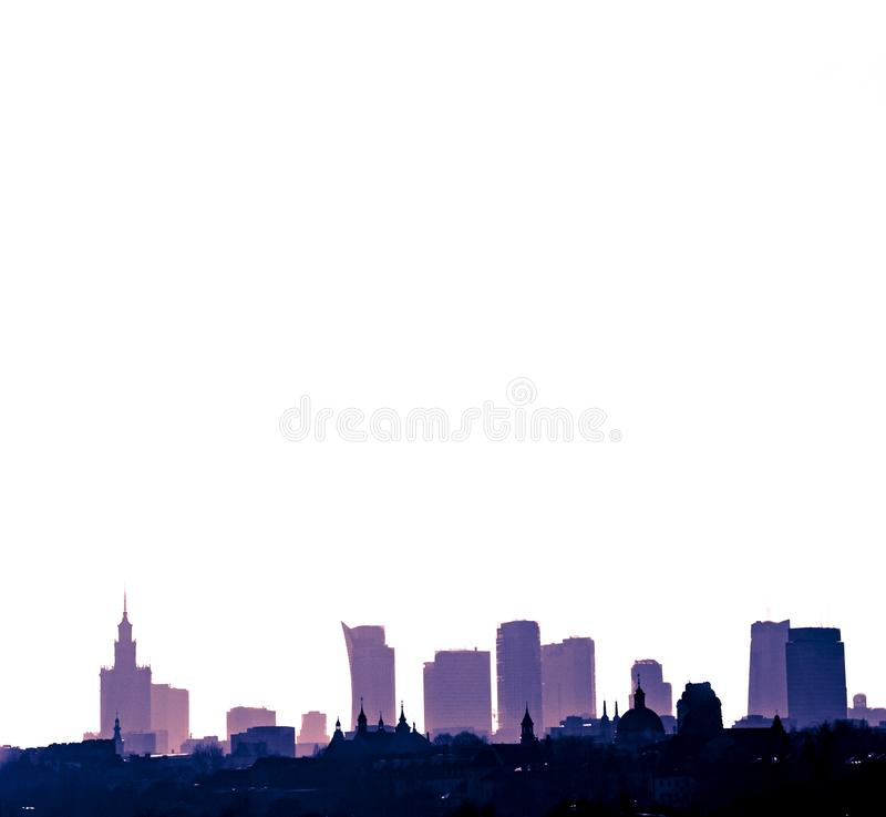 Warsaw city the capital of Poland royalty free stock photo