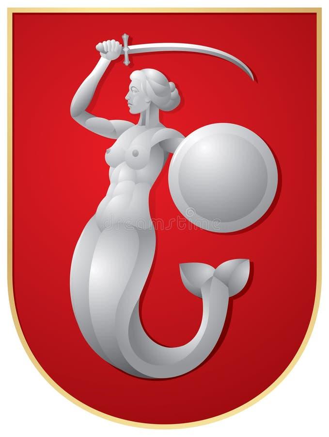 Download Warsaw Mermaid stock vector. Image of syrenka, guardian - 18413662
