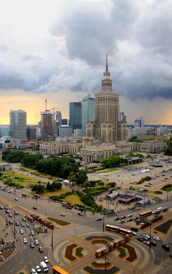 Warsaw -Palace of Culture and Science royalty free stock photo
